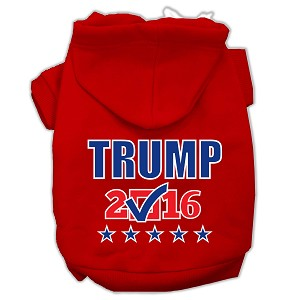 Trump Checkbox Election Screenprint Pet Hoodies Red Size L (14)